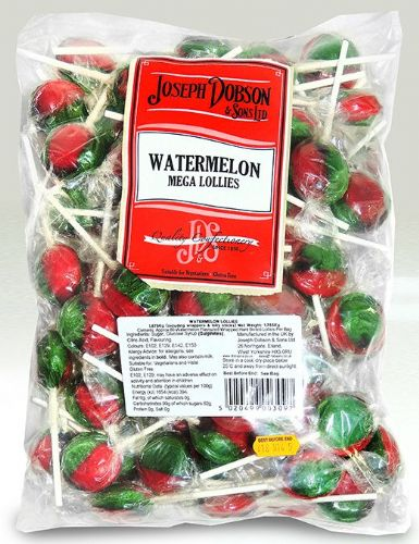 DOB24 DOBSONS WRAPPED WATERMELON MEGA LOLLIES x80